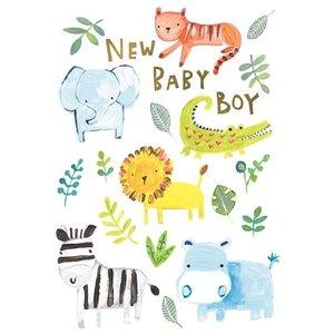 Paper Salad New Baby boy card