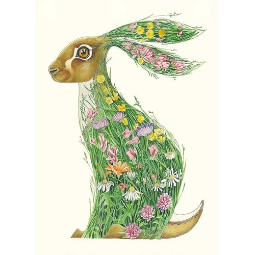 Hare in a Meadow Card