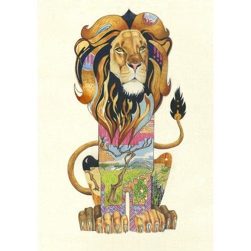 Lion Watercolour Card