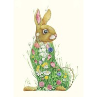 Bunny in a Meadow Watercolour Card