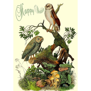 Owls in the Wood Card