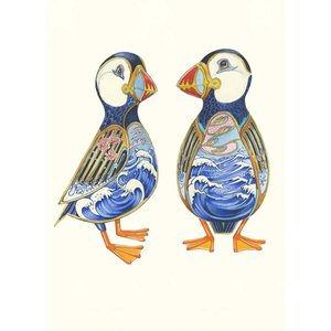 Two Puffins Card