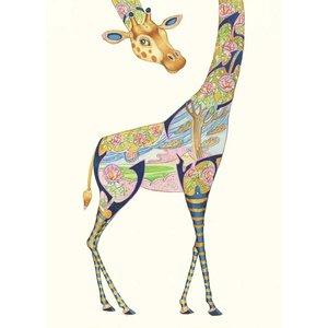 Giraffe Watercolour Card