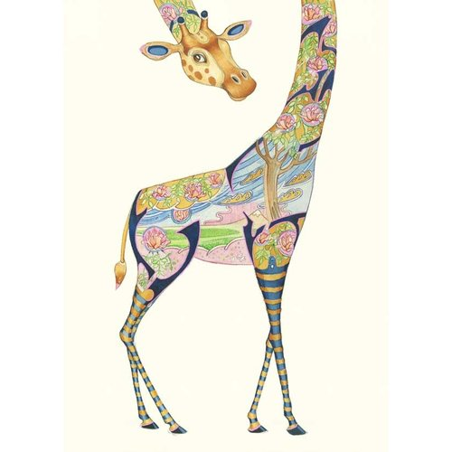 Giraffe Watercolour Card