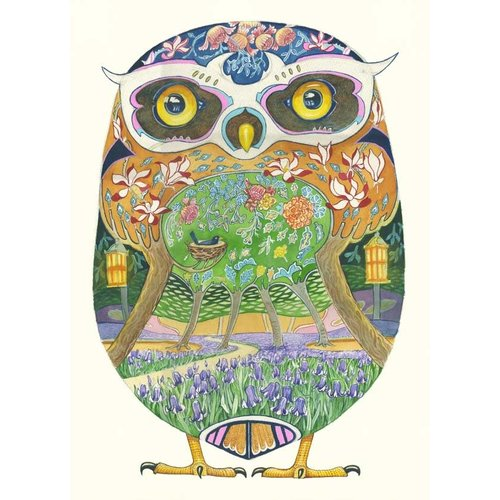 Owl in the Forest Card