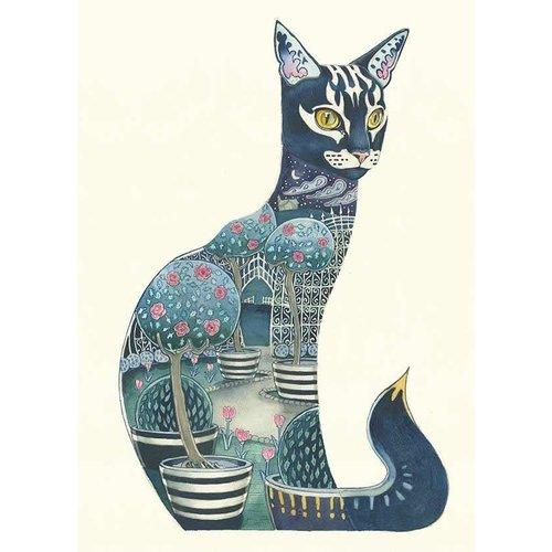 Cat Watercolour Card
