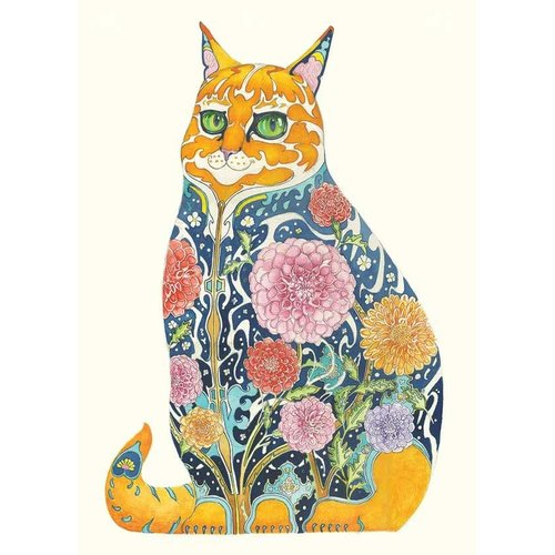 Ginger Tom Watercolour Card