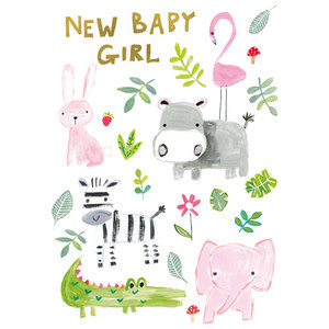 Paper Salad New Baby Girl Card
