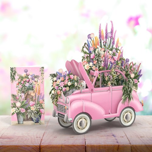 Paper d'Art The Pink Flower Card stand up Card