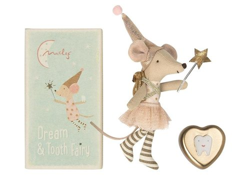 Maileg Big Sister Tooth Fairy Mouse With Metal Box