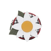 Daisy garden round coin purse with zip