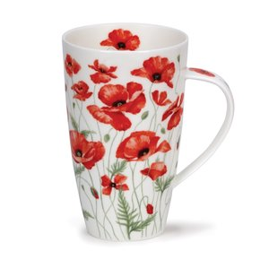 Dunoon Henley Poppies Mug - Red