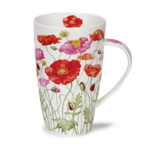 Dunoon Henley Poppies Mug - Pink / Red Mixed