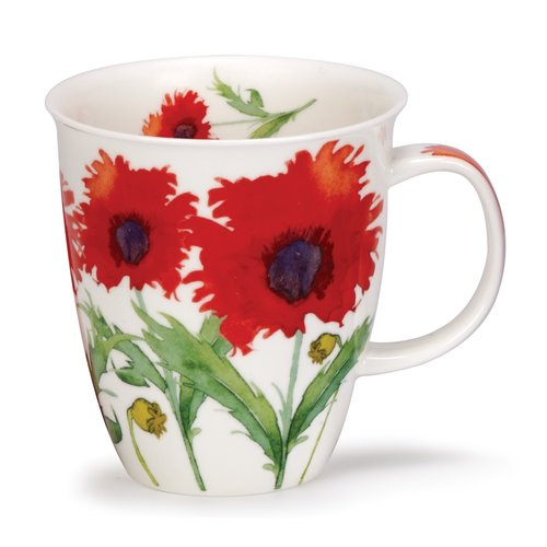 Dunoon Nevis Flora Poppy Mug