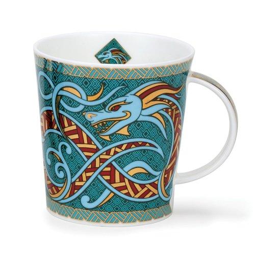 Dunoon Lomond Dragons Mug Turquoise