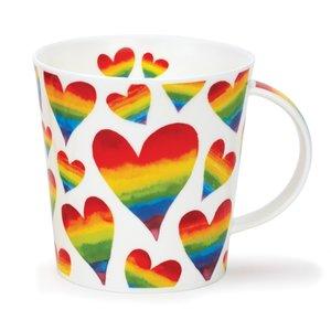Dunoon Cairngorm Rainbow Hearts Mug