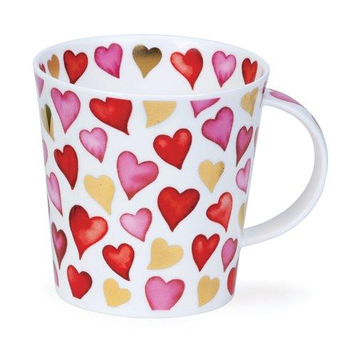 Dunoon Cairngorm Lovehearts Red Mug