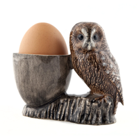 Quail Tawny Owl with Egg Cup