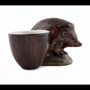 Quail Ceramics Quail Hedgehog with Egg Cup