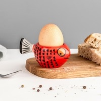 Hannah Turner Fish Egg Cup Red