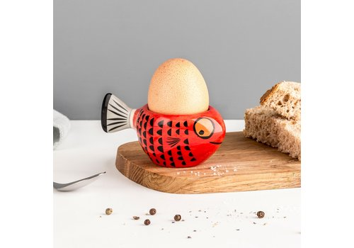 Hannah Turner Egg Cup Fish Red