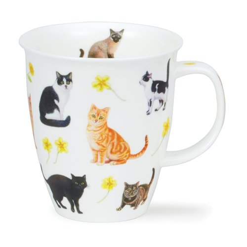 Dunoon Nevis Flower Cats Yellow
