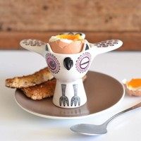 Egg Cup Owl Pink