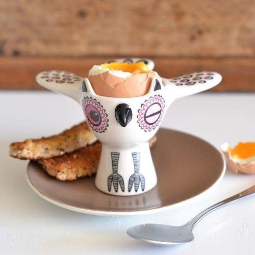 Hannah Turner Egg Cup Owl Pink
