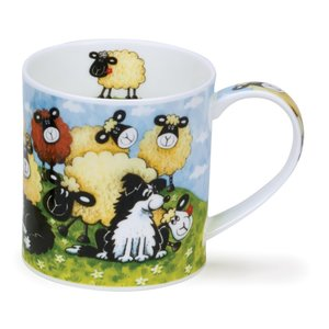 Dunoon Orkney Silly Sheep Brown Mug
