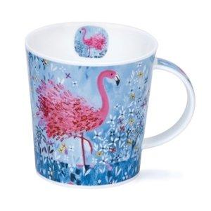 Dunoon Lomond Fancy Feathers Mug (Flamingo)