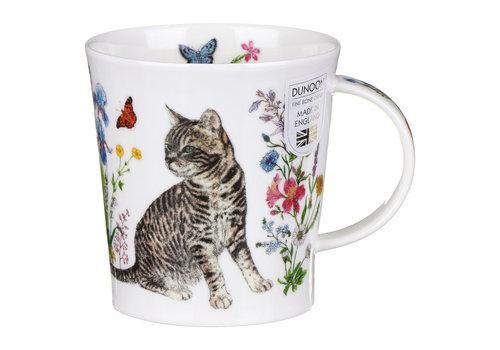 Dunoon Lomond Floral Cats Tabby Mug