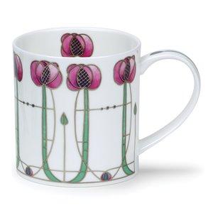 Dunoon Orkney Pink Argyle Mug