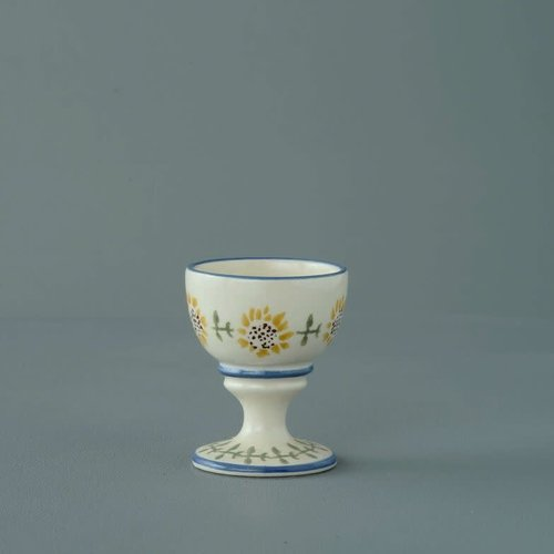 Brixton Pottery Sunflowers Blue Rim Egg Cup