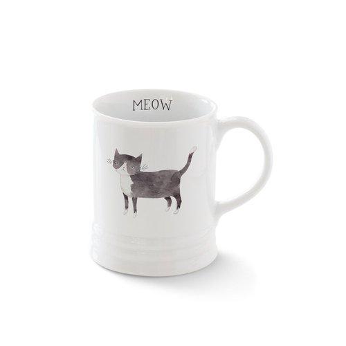 Fringe Studio Pet Shop Black & White Cat Mug