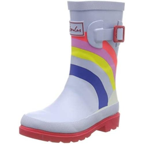 Joules USA Blue Rainbow Print Junior Welly