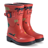 Red Dino Print Junior Welly