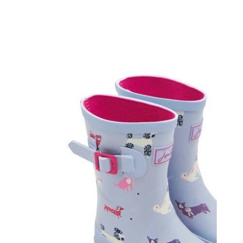 Joules USA Sky Blue Dog Print Junior Welly