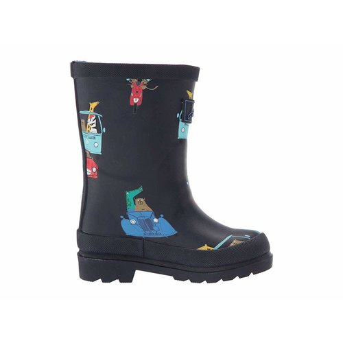 Joules USA Navy Animals Print Junior Welly Child Size 10 US