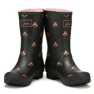 Joules USA Black Bee Molly Welly US Adult Size 6