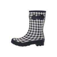 Navy Gingham Molly Welly Adult Size 10 US