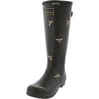 Black Bees Tall Welly Adult Size 10 US