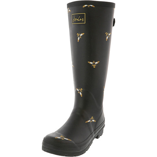 Joules USA Black Bees Tall Welly Adult Size 10 US