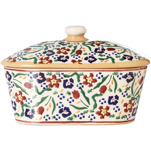 Nicholas Mosse Covered Butter Dish Wild Flower Meadow