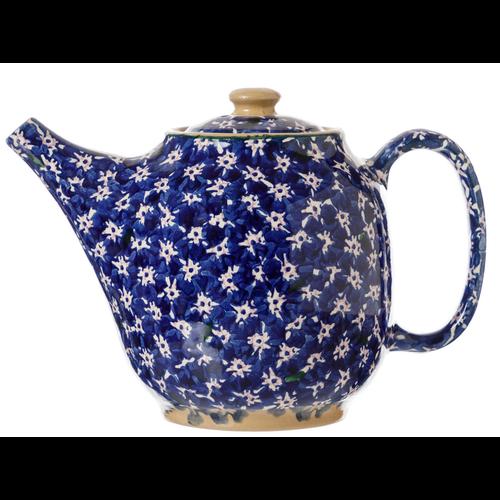 Dark Blue Lawn Oval Teapot
