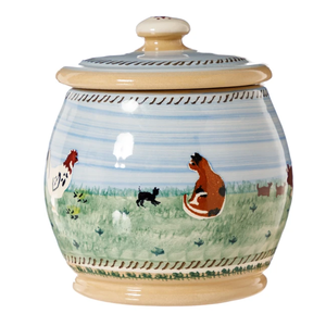 Nicholas Mosse Assorted Animals Landscape Small Lidded Jar