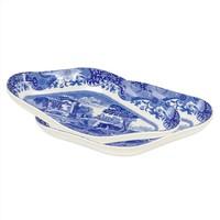 Blue Italian Pickle Dish