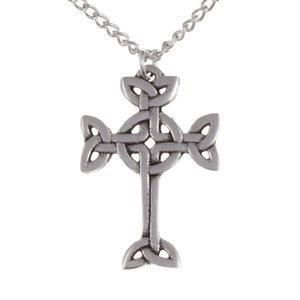 St Justin Clonmacnois Cross Necklace