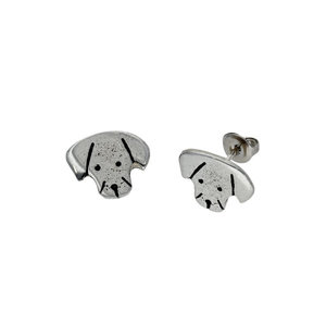 St Justin Puppy Dog Stud Earrings