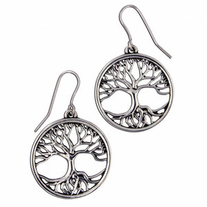 St Justin Tree of Life small drop earrings