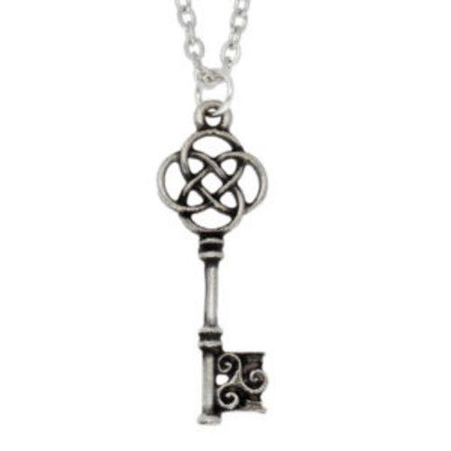 St Justin Celtic Key pendant necklace